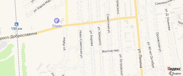 Улица Кирова на карте Дятьково с номерами домов