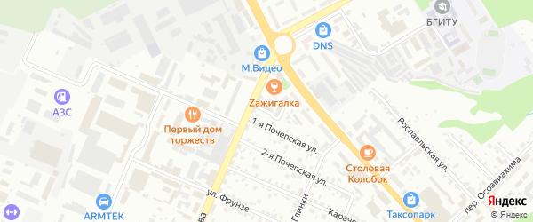 Трубчевский проезд на карте Брянска с номерами домов