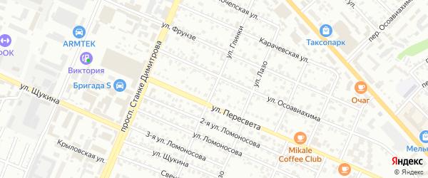 Улица Глинки на карте Брянска с номерами домов