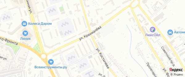 Улица Костычева на карте Брянска с номерами домов