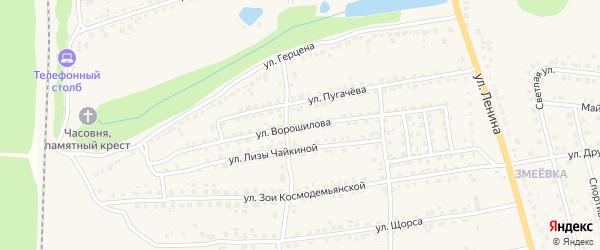Улица Ворошилова на карте Дятьково с номерами домов