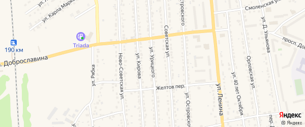 Улица Урицкого на карте Дятьково с номерами домов