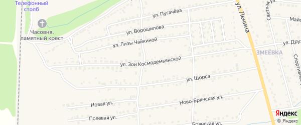 Улица З.Космодемьянской на карте Дятьково с номерами домов