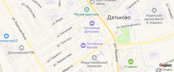 Улица Шувалова на карте Дятьково с номерами домов