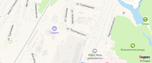 Улица Луначарского на карте Дятьково с номерами домов