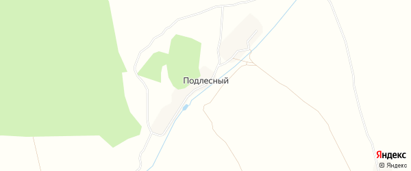 Карта Подлесного поселка в Брянской области с улицами и номерами домов