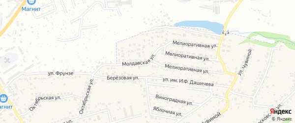 Молдавская улица на карте села Супонево с номерами домов