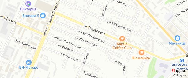 Улица Лазо на карте Брянска с номерами домов