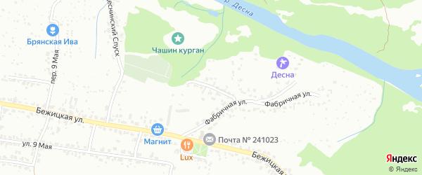 Фабричный переулок на карте Брянска с номерами домов