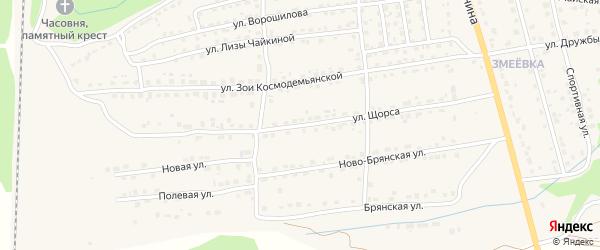 Улица Щорса на карте Дятьково с номерами домов