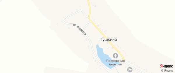 Улица Филевка на карте села Пушкино с номерами домов