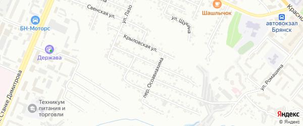 Толмачевская улица на карте Брянска с номерами домов