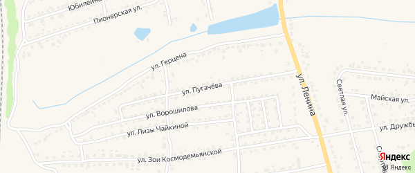 Улица Пугачева на карте Дятьково с номерами домов