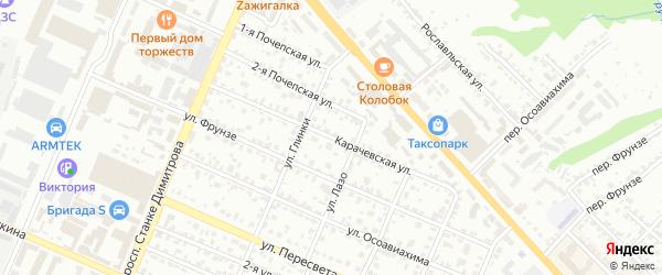 Карачевская улица на карте Брянска с номерами домов