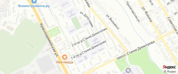 Проезд 2-й Станке Димитрова на карте Брянска с номерами домов