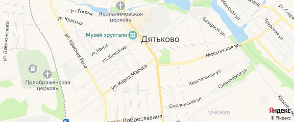 ГСК ГБ во дворе дома 2 по ул. К.Маркса на карте Дятьково с номерами домов