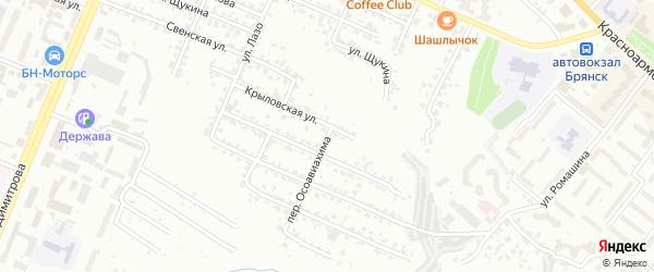 Переулок Осоавиахима на карте Брянска с номерами домов