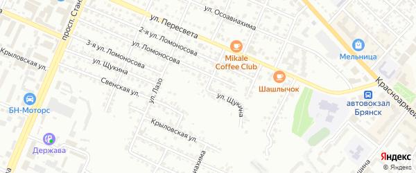 Рославльский переулок на карте Брянска с номерами домов