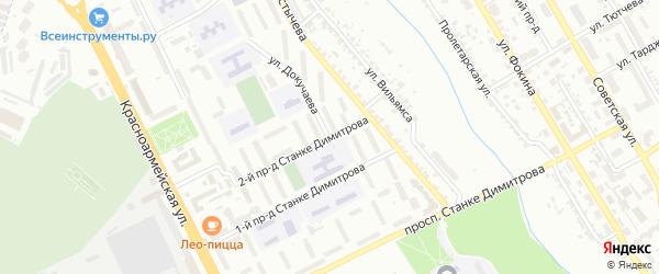 Улица Докучаева на карте Брянска с номерами домов