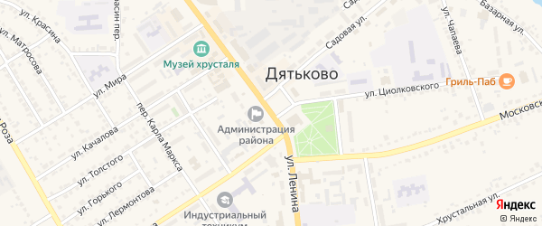 Улица Ленина на карте Дятьково с номерами домов