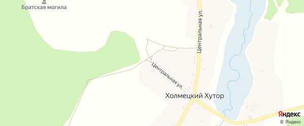 Центральная улица на карте села Холмецкого Хутора с номерами домов
