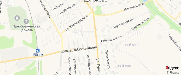 ГСК ГБ во дворе дома 121 по ул.Ленина на карте Дятьково с номерами домов