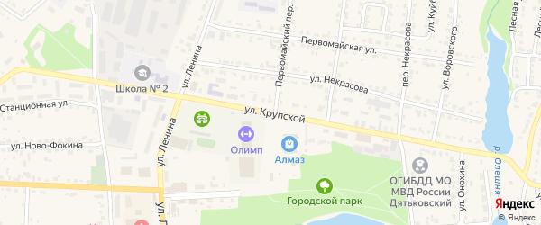 Улица Крупской на карте Дятьково с номерами домов