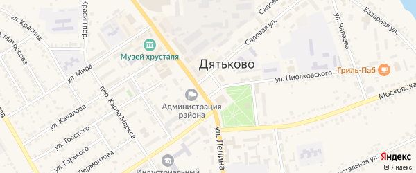 Площадь Ленина на карте Дятьково с номерами домов