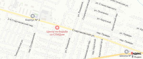 Спартаковская улица на карте Брянска с номерами домов