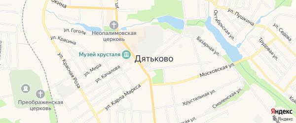ГСК ГБ во дворе дома 1 по ул.Садовая на карте Дятьково с номерами домов
