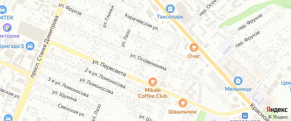 Улица Осоавиахима на карте Брянска с номерами домов