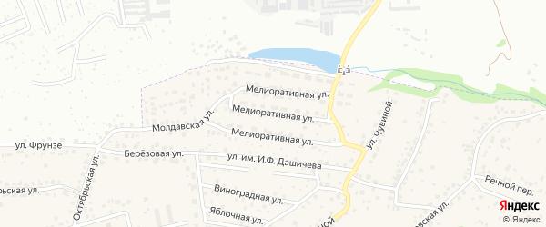 Мелиоративная улица на карте села Супонево с номерами домов