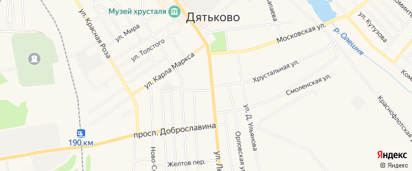 ГСК ГБ во дворе дома 127 по ул.Ленина на карте Дятьково с номерами домов