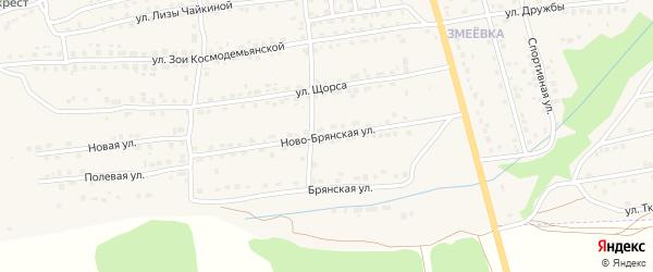 Ново-Брянская улица на карте Дятьково с номерами домов