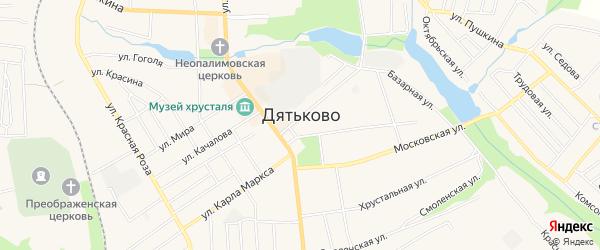 ГО в районе ул Крупской ГСК на карте Дятьково с номерами домов