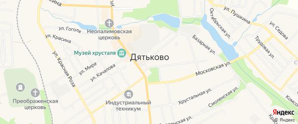 СТ Алмаз на карте Дятьково с номерами домов