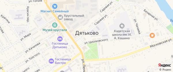Рассветная улица на карте Дятьково с номерами домов