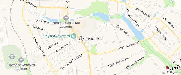 ГСК ГБ во дворе дома 5 по ул.Садовая на карте Дятьково с номерами домов