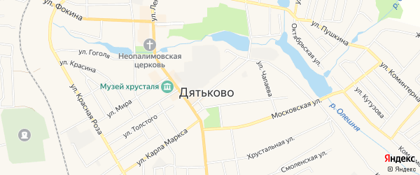ГСК ГБ во дворе дома 7 по ул.Садовая на карте Дятьково с номерами домов