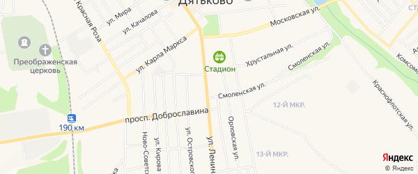 ГСК ГБ во дворе дома 168 по ул.Ленина на карте Дятьково с номерами домов