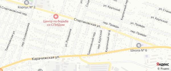Супоневский переулок на карте Брянска с номерами домов