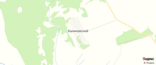 Карта Калиновского поселка в Брянской области с улицами и номерами домов