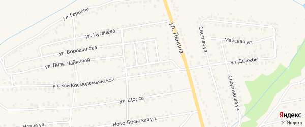 Демократическая улица на карте Дятьково с номерами домов