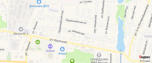 Улица Некрасова на карте Дятьково с номерами домов