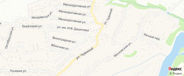 Виноградная улица на карте села Супонево с номерами домов