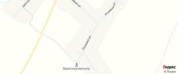 Полевая улица на карте села Добруни с номерами домов