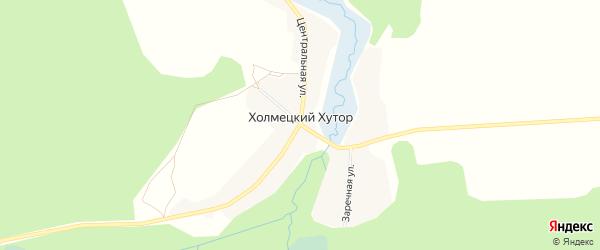 Карта села Холмецкого Хутора в Брянской области с улицами и номерами домов