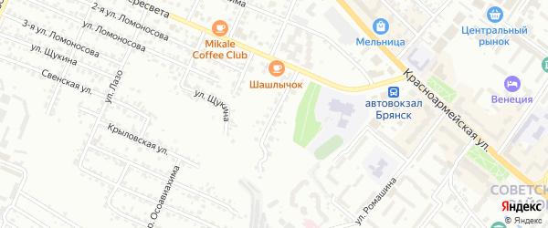 Улица Василева на карте Брянска с номерами домов