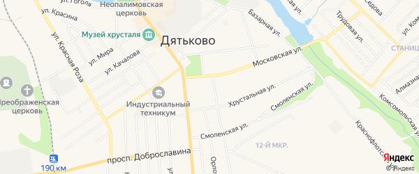 ГСК ГБ в районе дома 2 по ул Д.Ульянова на карте Дятьково с номерами домов