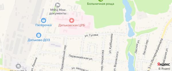 Улица Гусева на карте Дятьково с номерами домов